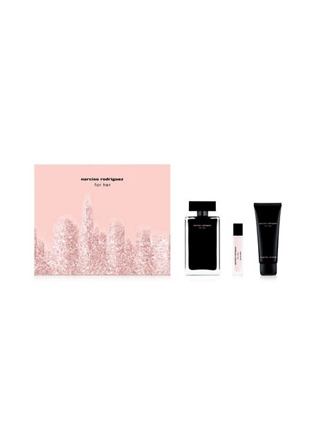 NARCISO RODRIGUEZ FOR HER- cofanetto eau de toilette 50ml + shower gel 75ml + body lotion 75ml