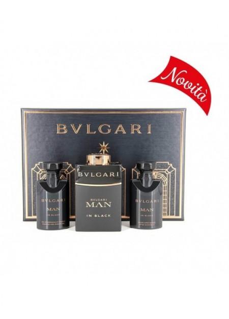 BULGARI MAN IN BLACK- cofanetto eau de parfum 60ml + after shave 40ml + shampoo e shower gel 40ml