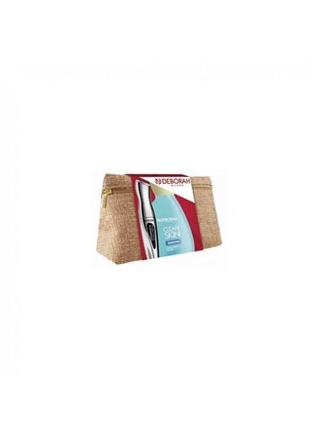 DEBORAH- pochette con mascara 2extraordinary 12ml + clean skin remover 125ml