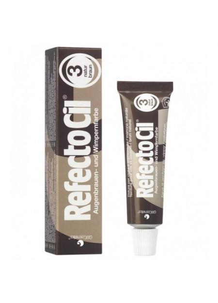 REFECTOCIL - Tintura per sopracciglia, ciglia e barba colore marrone 3n