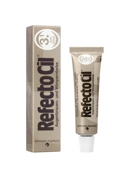 REFECTOCIL - Tintura per sopracciglia, ciglia e barba colore marrone chiaro 3.1